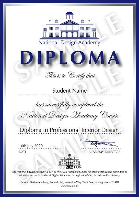 Диплом National Design Academy